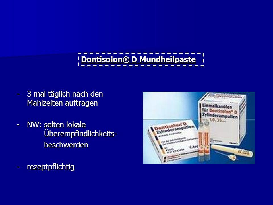 Lokale Taschenbehandlung unterstützend mit Antibiotika -reduziert die Taschentiefe und erhält die gesunde Mundflora -Anwendung sollte in der Regel nic