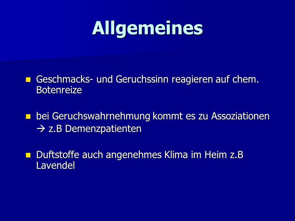 8. Aromatherapie 1. Allgemeines 2. verwendete Stoffe 3. Therapieansätze zur Anregung des Stoffwechsels / Vitalfunktion älterer, pflegebedürftiger Mens