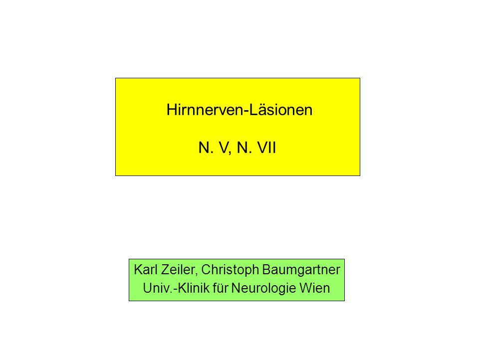 Hirnnerven-Läsionen N.V, N.