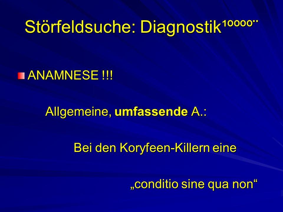 Störfeldsuche: Diagnostik¹ºººº¨ ANAMNESE !!.
