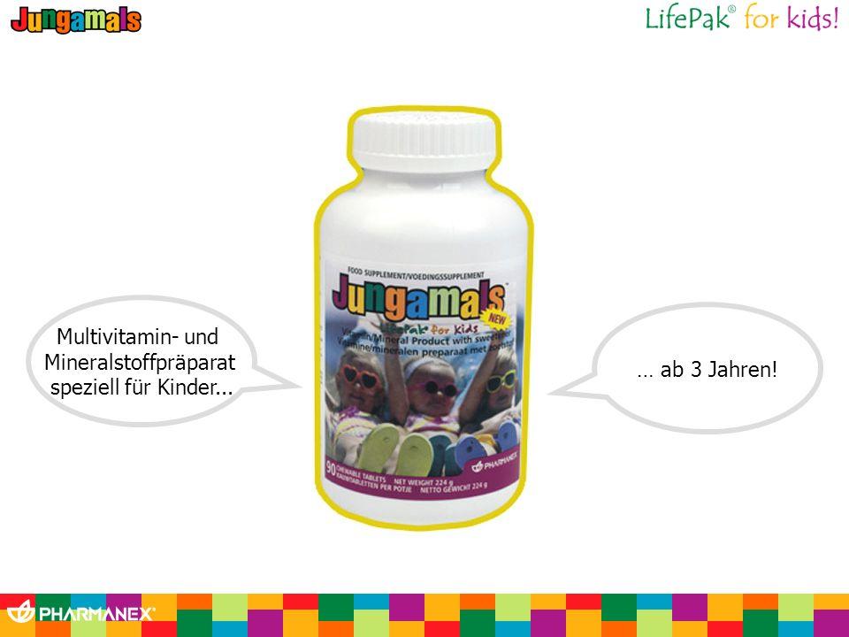 Multivitamin- und Mineralstoffpräparat speziell für Kinder... … ab 3 Jahren!
