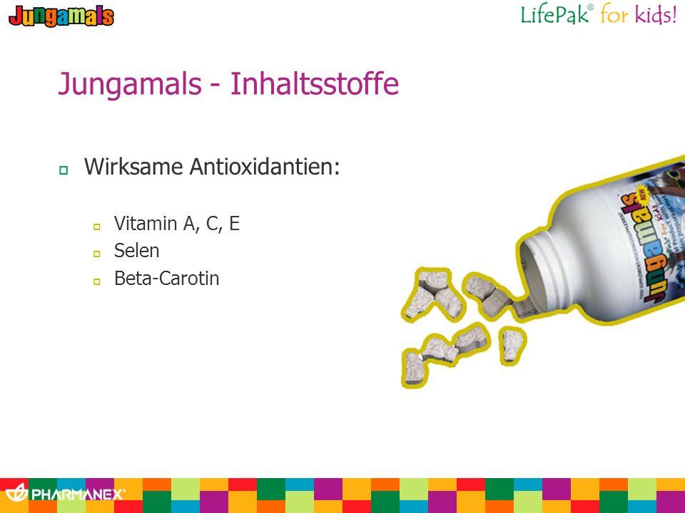 Jungamals - Inhaltsstoffe Wirksame Antioxidantien: Vitamin A, C, E Selen Beta-Carotin