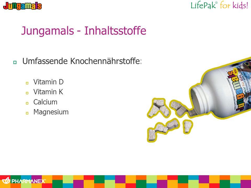 Jungamals - Inhaltsstoffe Umfassende Knochennährstoffe: Vitamin D Vitamin K Calcium Magnesium