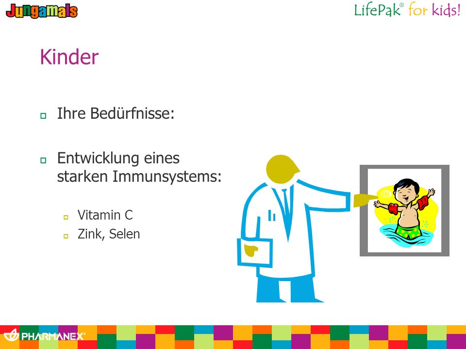 Kinder Ihre Bedürfnisse: Entwicklung eines starken Immunsystems: Vitamin C Zink, Selen