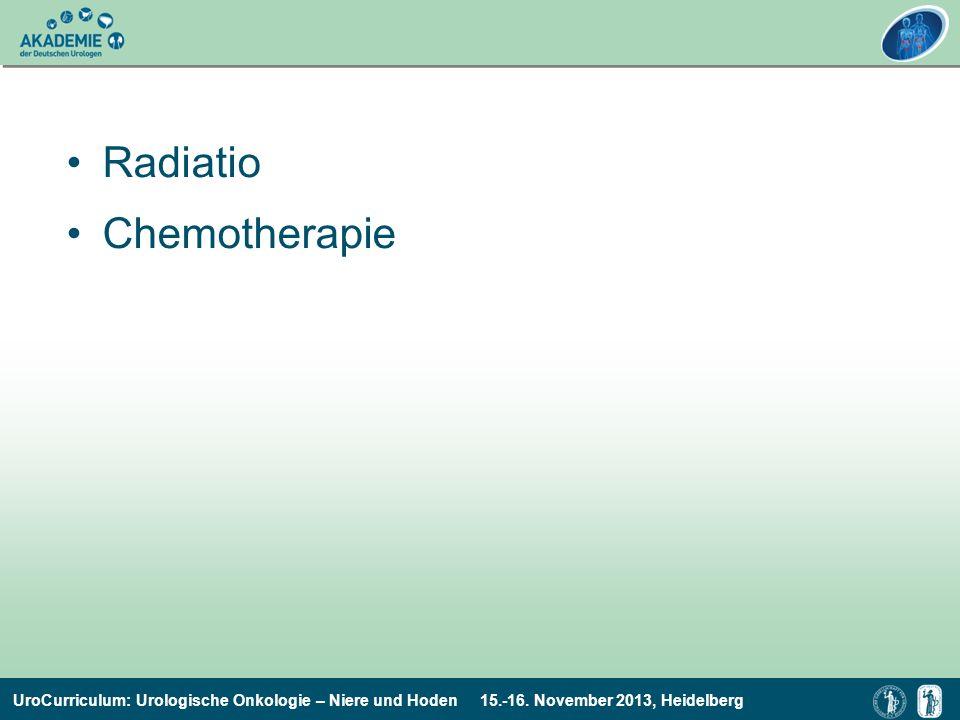 UroCurriculum: Urologische Onkologie – Niere und Hoden 15.-16. November 2013, Heidelberg Radiatio Chemotherapie