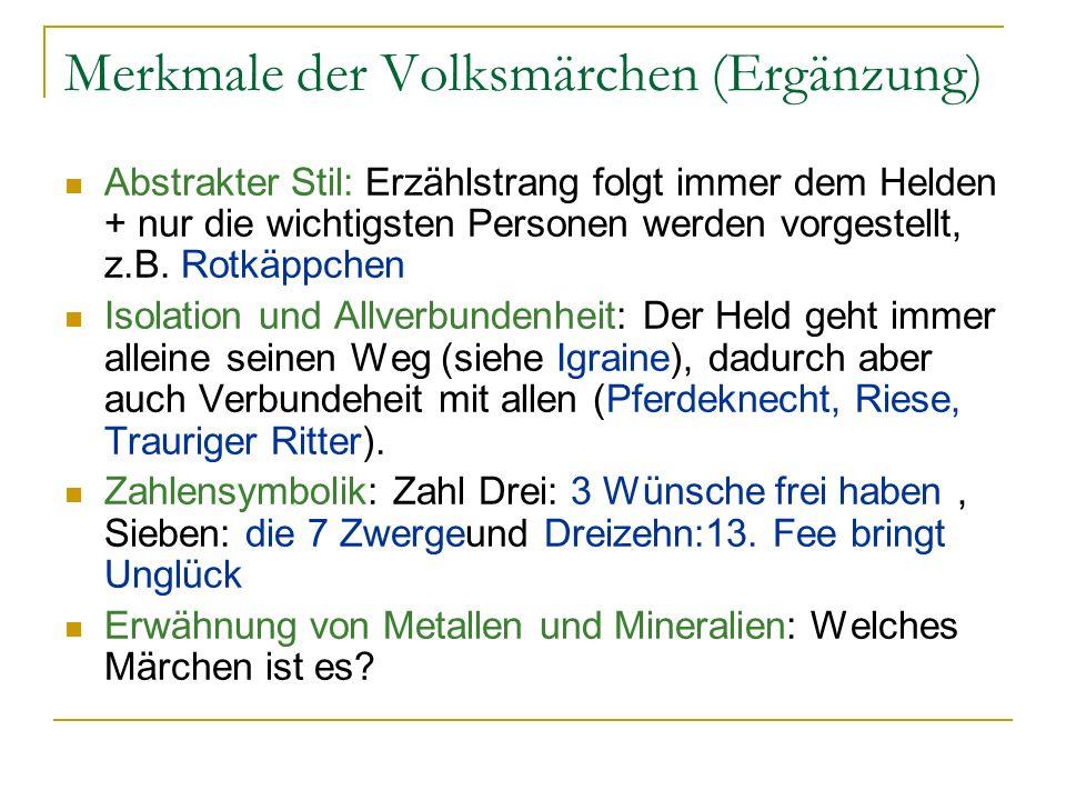 Märchen unkontroversiell?.