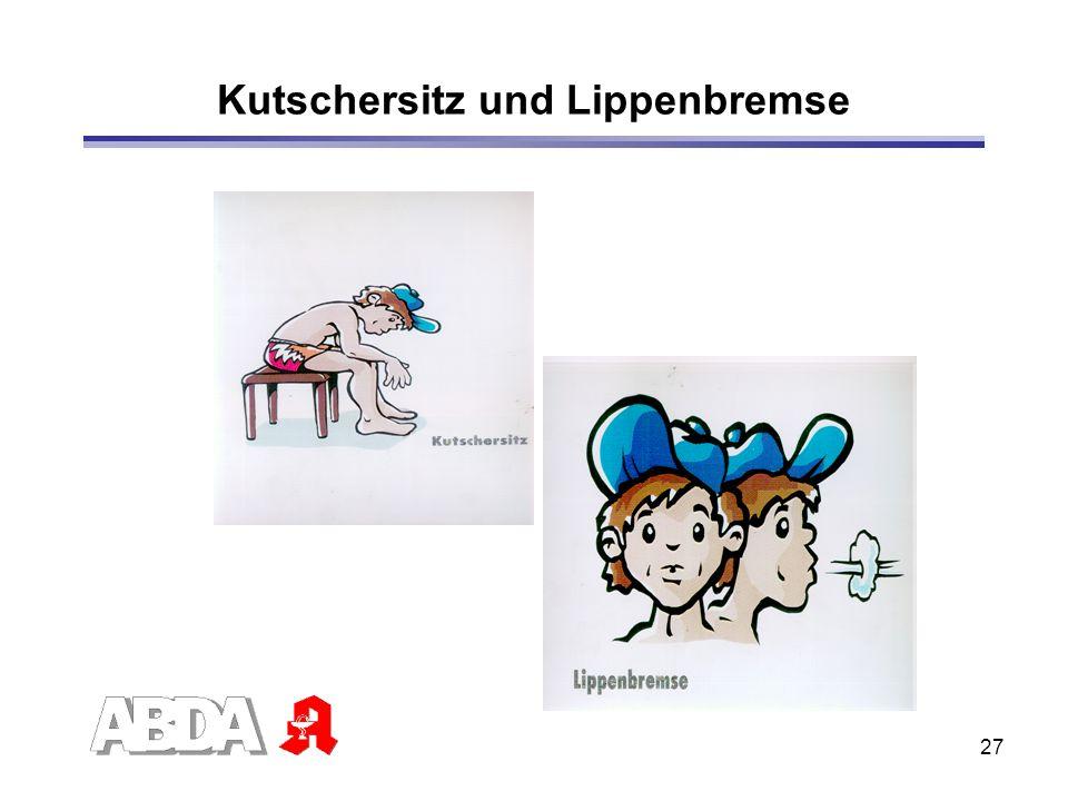 27 Kutschersitz und Lippenbremse