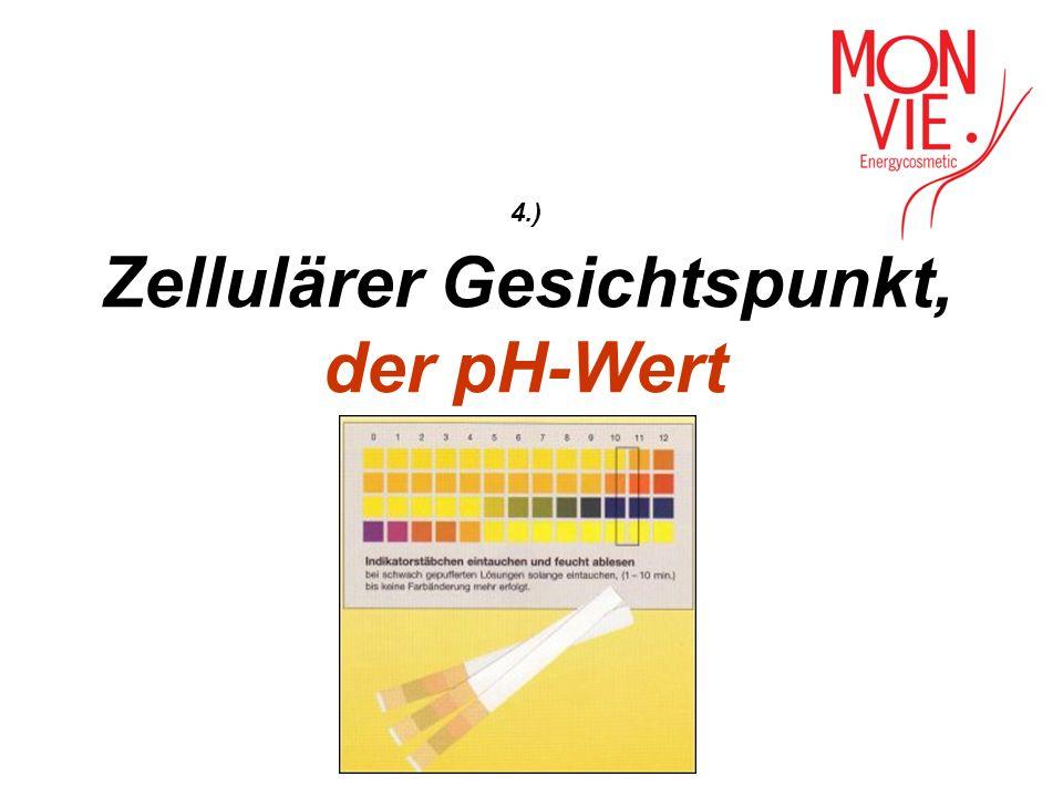 4.) Zellulärer Gesichtspunkt, der pH-Wert