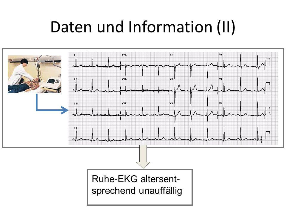 Ruhe-EKG altersent- sprechend unauffällig Daten und Information (II)