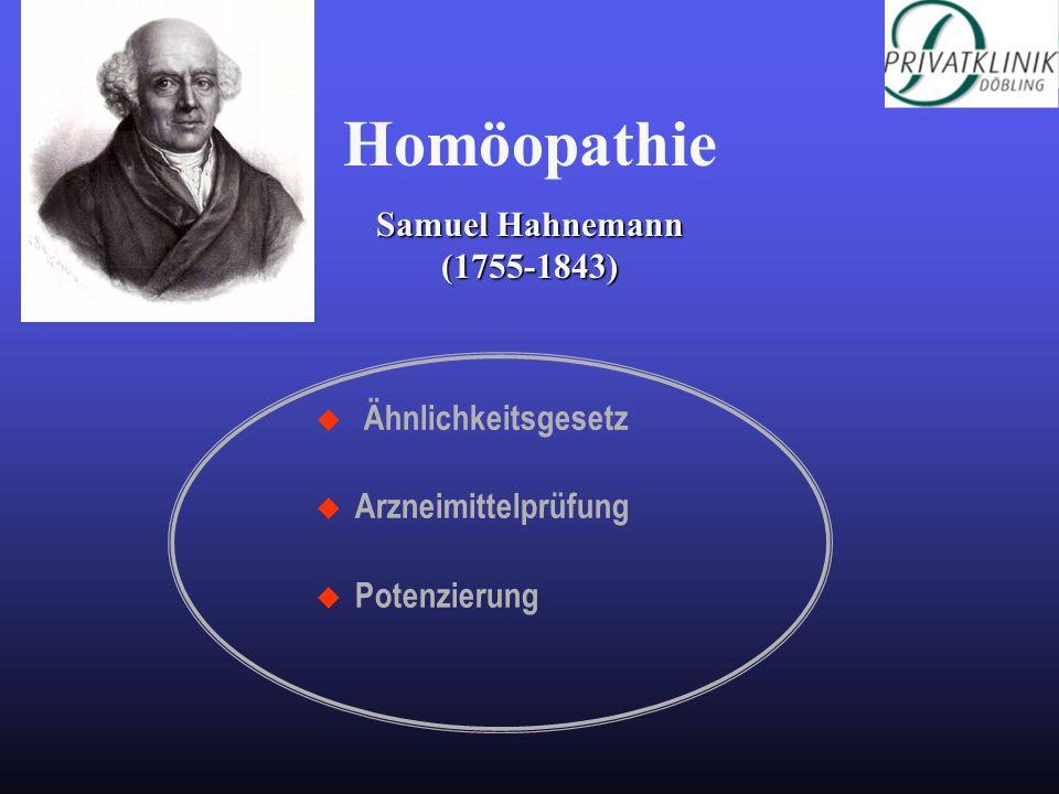Ähnlichkeitsgesetz u Arzneimittelprüfung u Potenzierung Homöopathie Samuel Hahnemann (1755-1843)