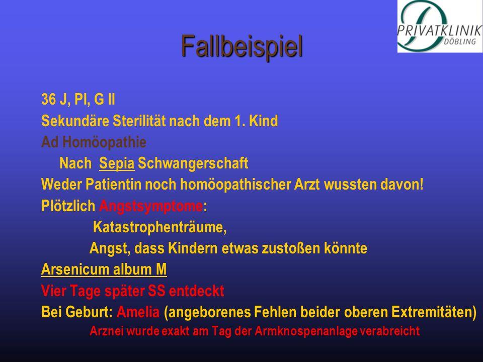 Fallbeispiel 36 J, PI, G II Sekundäre Sterilität nach dem 1. Kind Ad Homöopathie Nach Sepia Schwangerschaft Weder Patientin noch homöopathischer Arzt