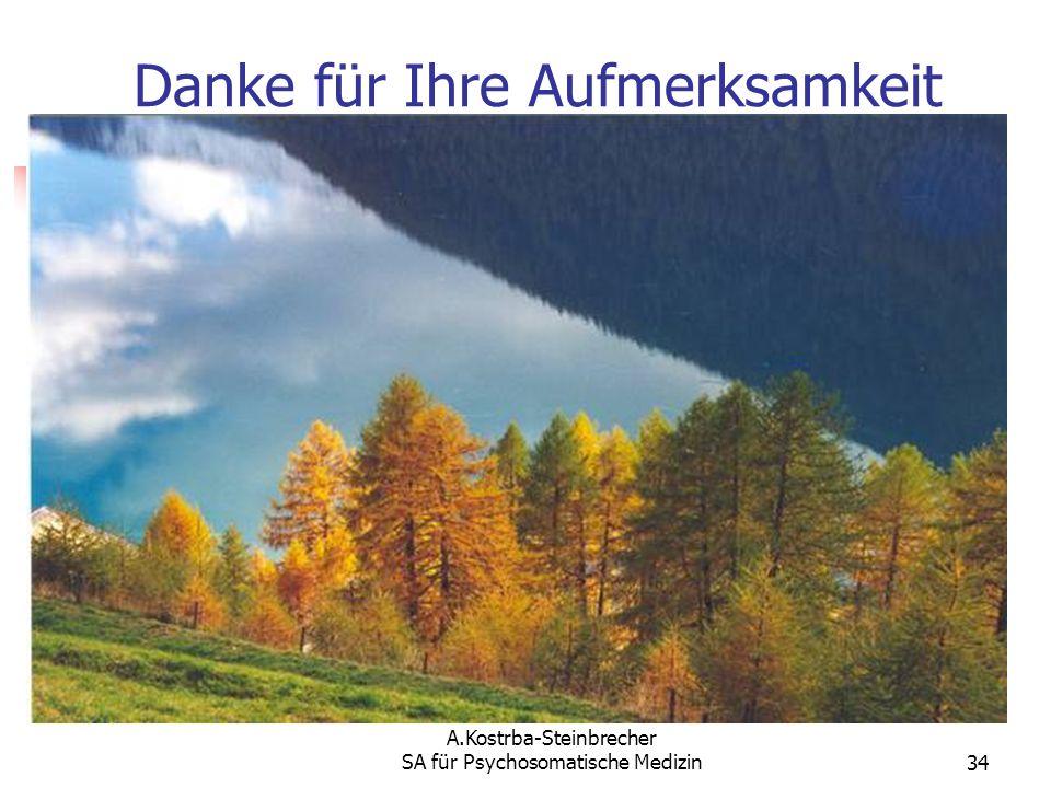 A.Kostrba-Steinbrecher SA für Psychosomatische Medizin34 Danke für Ihre Aufmerksamkeit