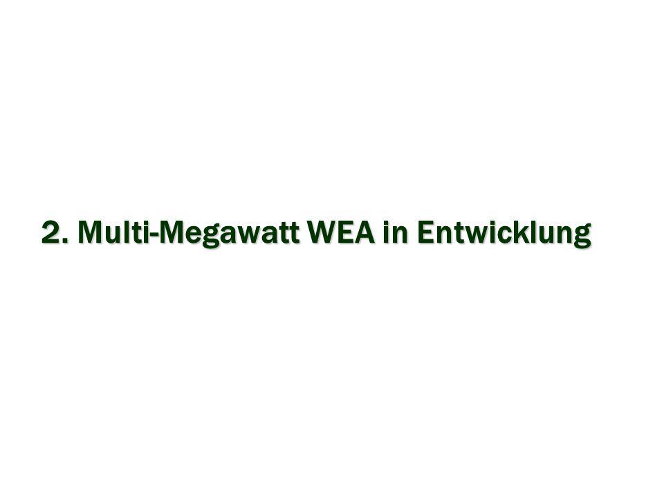 2. Multi-Megawatt WEA in Entwicklung