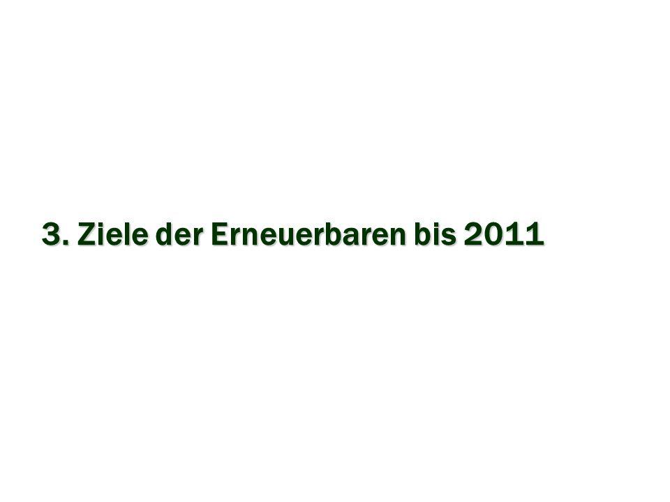 3. Ziele der Erneuerbaren bis 2011