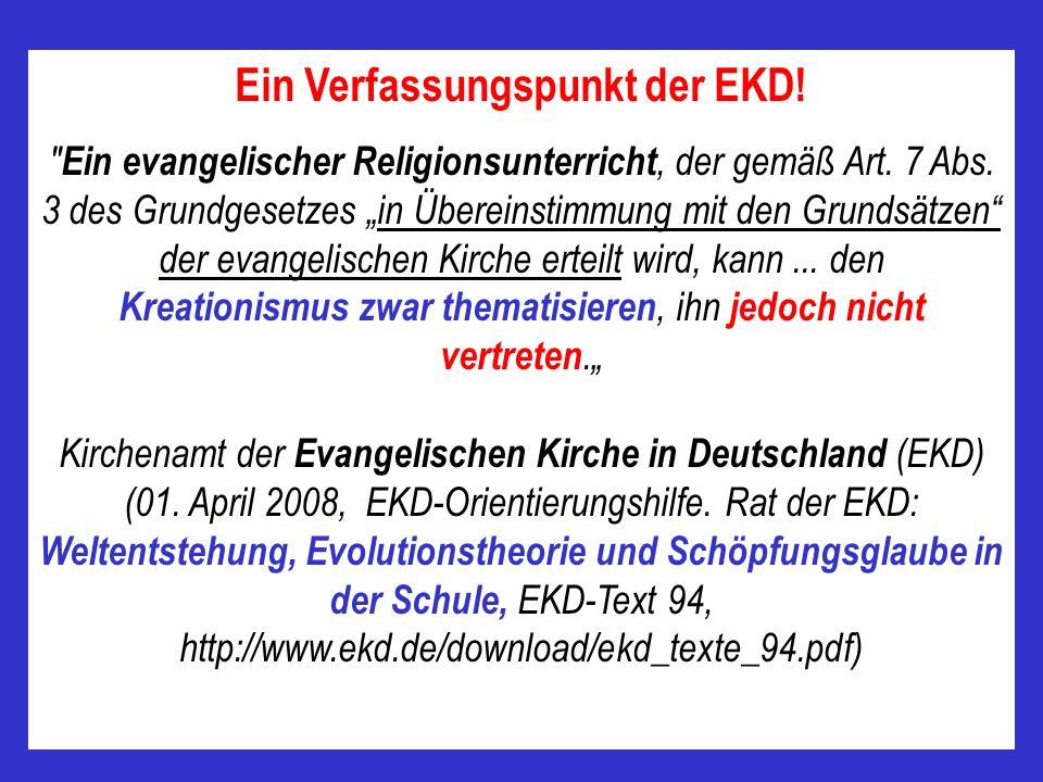 Kirchenamt der Evangelischen Kirche in Deutschland (EKD) (01. April 2008, EKD-Orientierungshilfe. Rat der EKD : Weltentstehung, Evolutionstheorie und