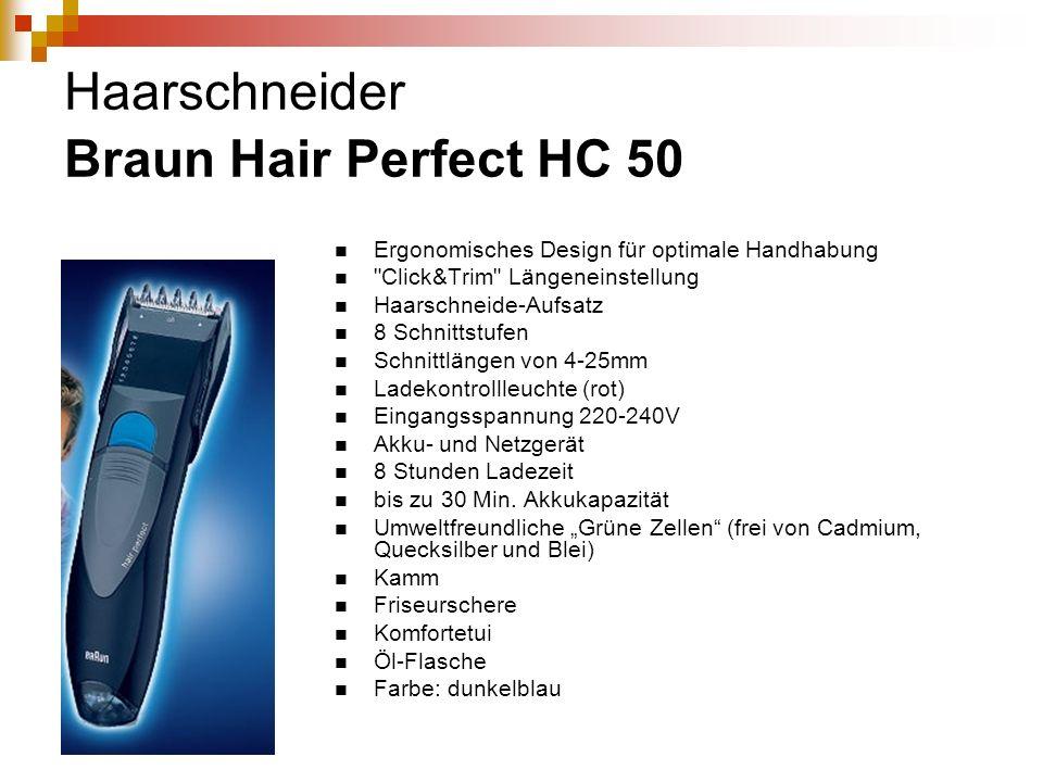 Haarschneider Braun Hair Perfect HC 50 Ergonomisches Design für optimale Handhabung