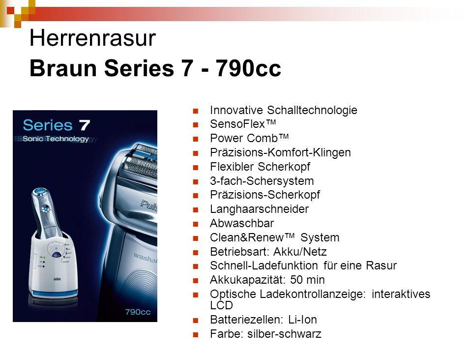Herrenrasur Braun Series 7 - 790cc Innovative Schalltechnologie SensoFlex Power Comb Präzisions-Komfort-Klingen Flexibler Scherkopf 3-fach-Schersystem