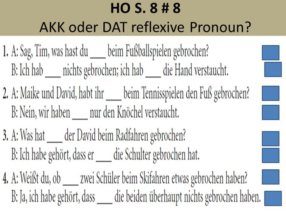 HO S. 8 # 8 AKK oder DAT reflexive Pronoun?