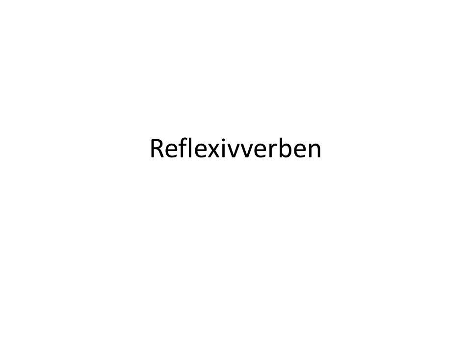 Reflexivverben