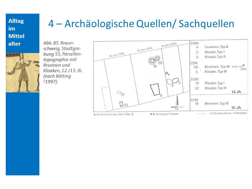 Alltag im Mittel alter 4 – Archäologische Quellen/ Sachquellen