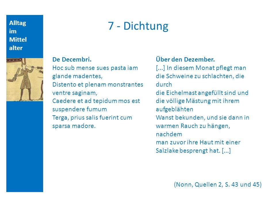 Alltag im Mittel alter 7 - Dichtung (Nonn, Quellen 2, S.