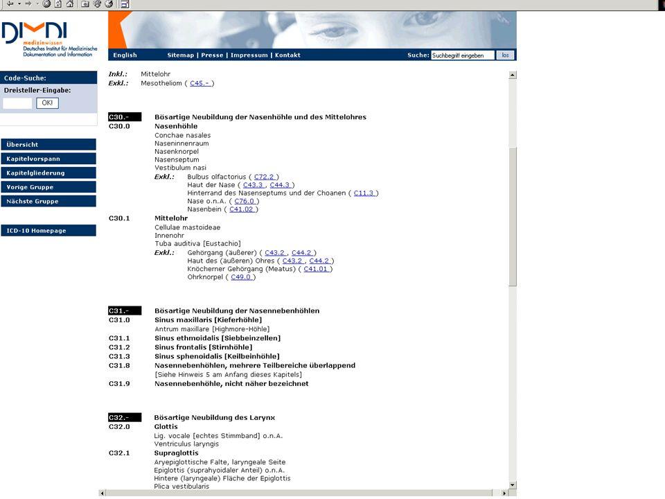 Einsatz biomedizinischer Ordnungssysteme Verschlagwortung von Dokumenten Semantische Annotation von Forschungsdaten Klassifikation zur Leistungserfassung und Gesundheitsstatistik