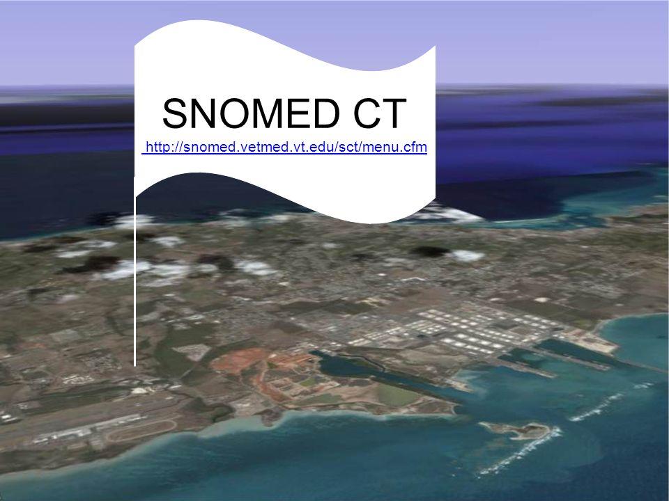 MeSH: Medical Subject Headings SNOMED CT http://snomed.vetmed.vt.edu/sct/menu.cfm http://snomed.vetmed.vt.edu/sct/menu.cfm