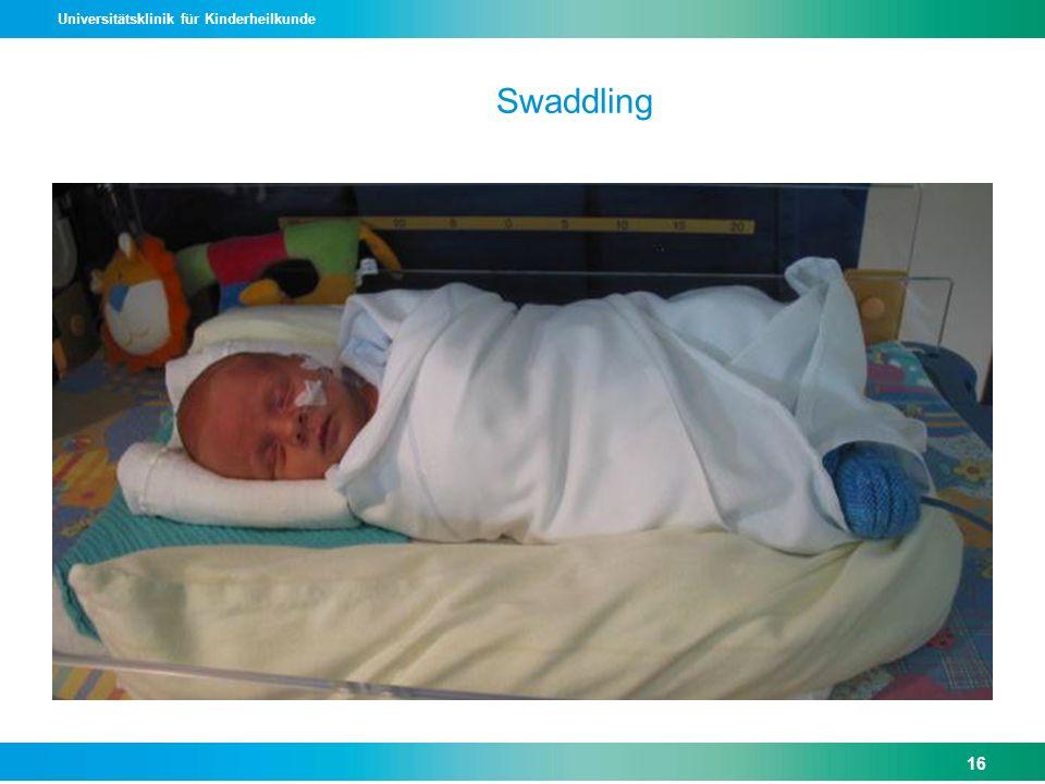 Universitätsklinik für Kinderheilkunde Swaddling 16