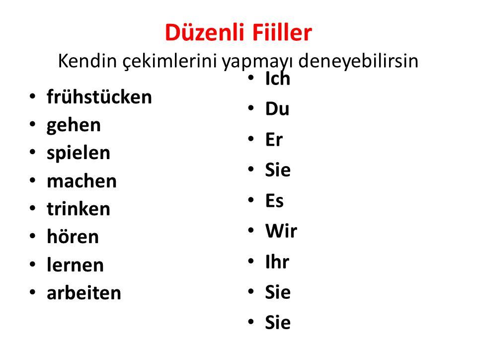 Düzensiz Filler/ Unregeläßige Verben Almancada düzensiz fiillerin çekimi nasıl yapılır .