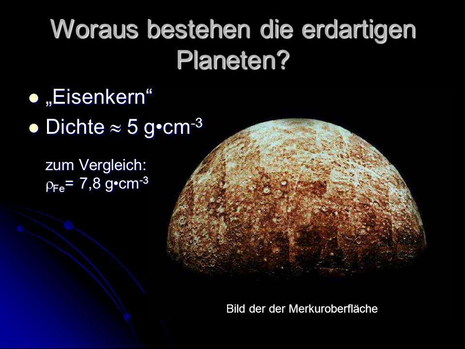 Woraus bestehen die erdartigen Planeten.