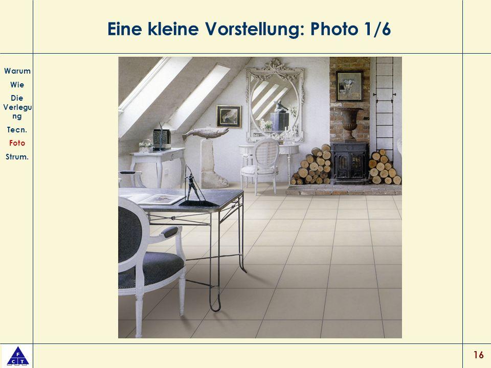 16 Eine kleine Vorstellung: Photo 1/6 Warum Wie Die Verlegu ng Tecn. Foto Strum.