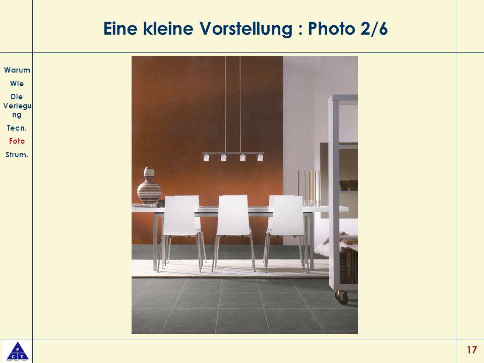 17 Eine kleine Vorstellung : Photo 2/6 Warum Wie Die Verlegu ng Tecn. Foto Strum.