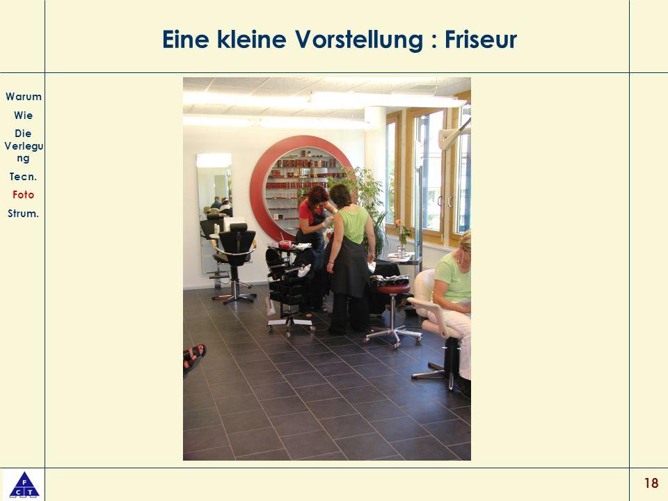 18 Eine kleine Vorstellung : Friseur Warum Wie Die Verlegu ng Tecn. Foto Strum.