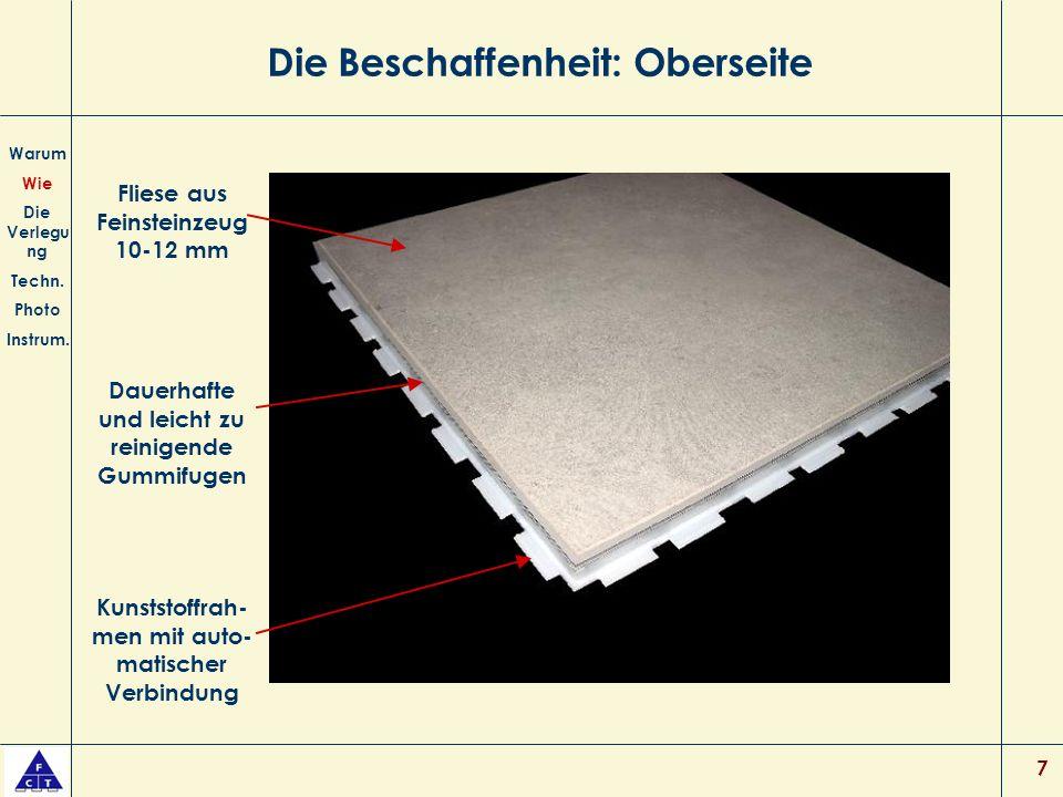 7 Die Beschaffenheit: Oberseite Warum Wie Die Verlegu ng Techn.