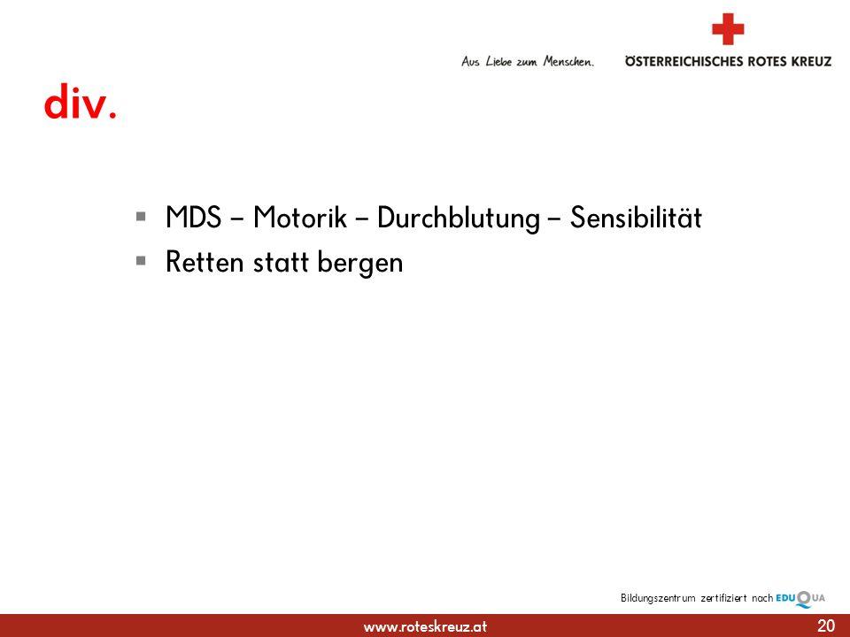 www.roteskreuz.at Bildungszentrumzertifiziert nach div.