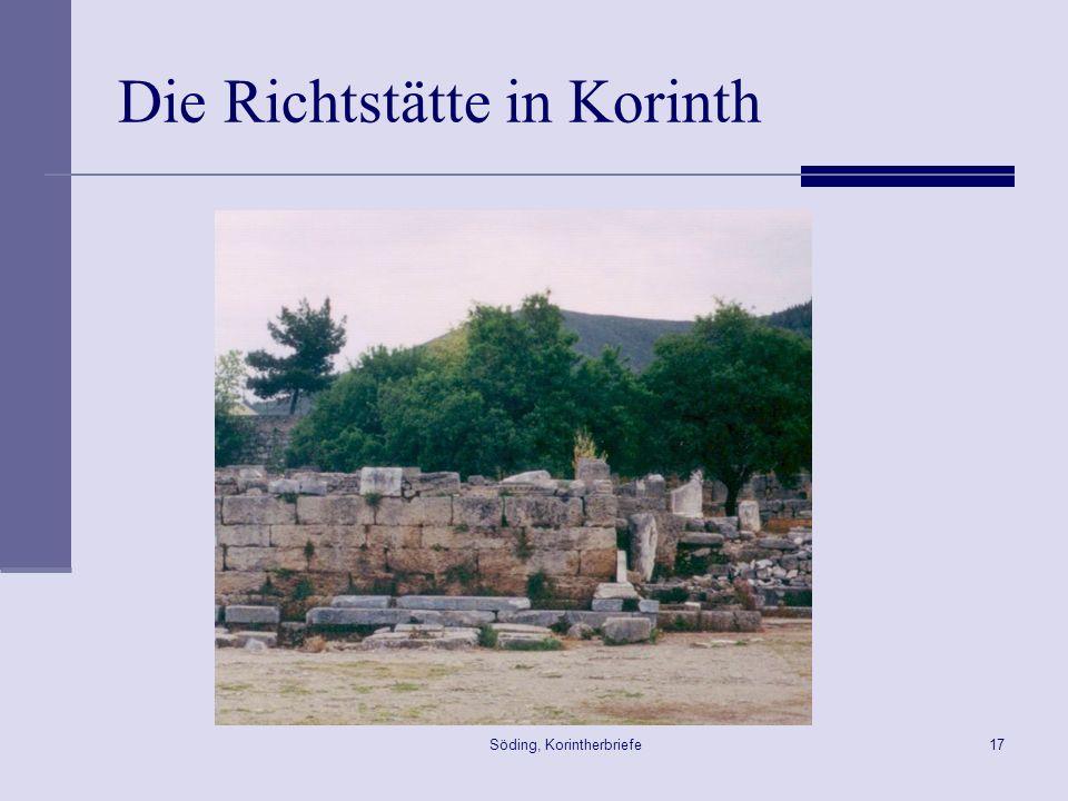 Söding, Korintherbriefe17 Die Richtstätte in Korinth