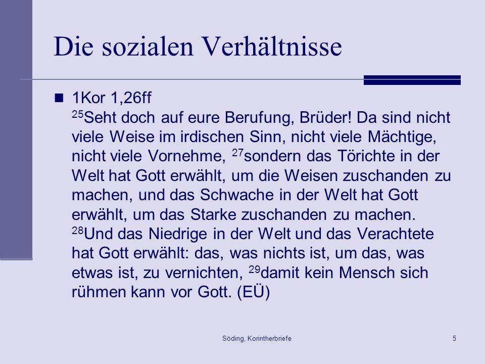 Söding, Korintherbriefe66 Theologie der Auferstehung 1Kor 15,20ff.
