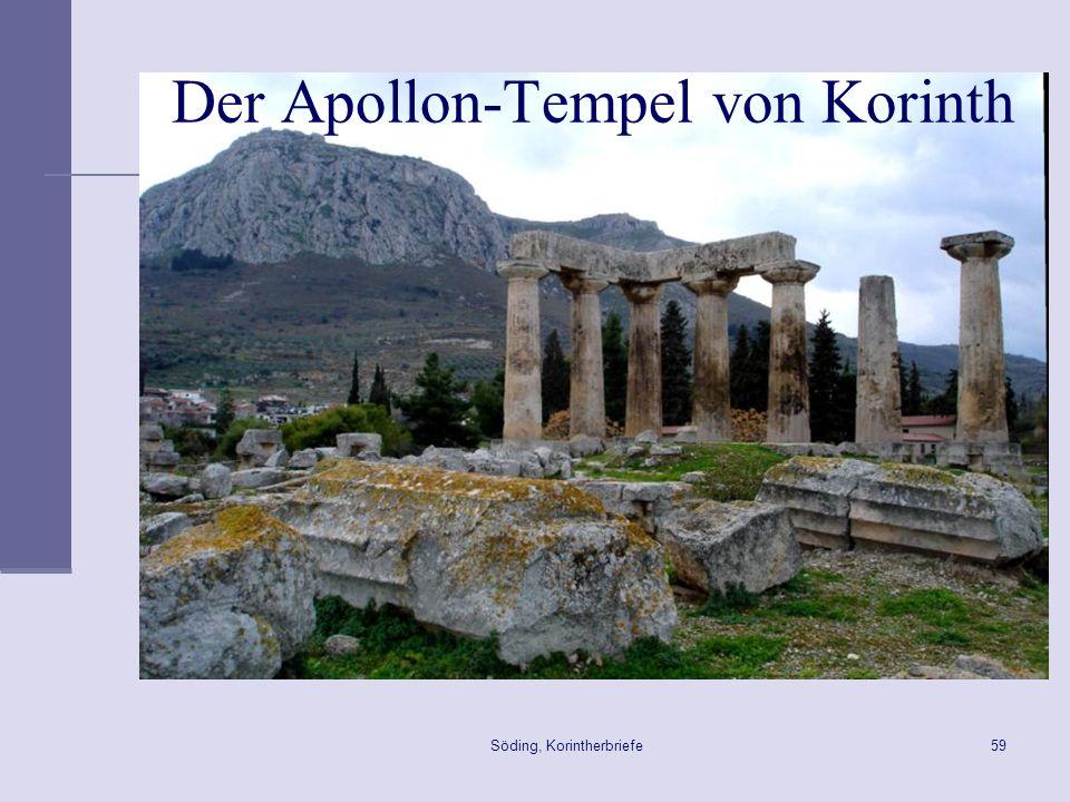Söding, Korintherbriefe59 Der Apollon-Tempel von Korinth