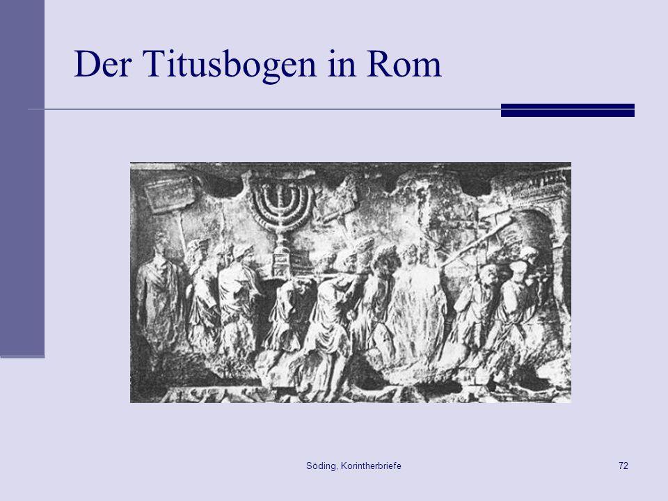 Söding, Korintherbriefe72 Der Titusbogen in Rom