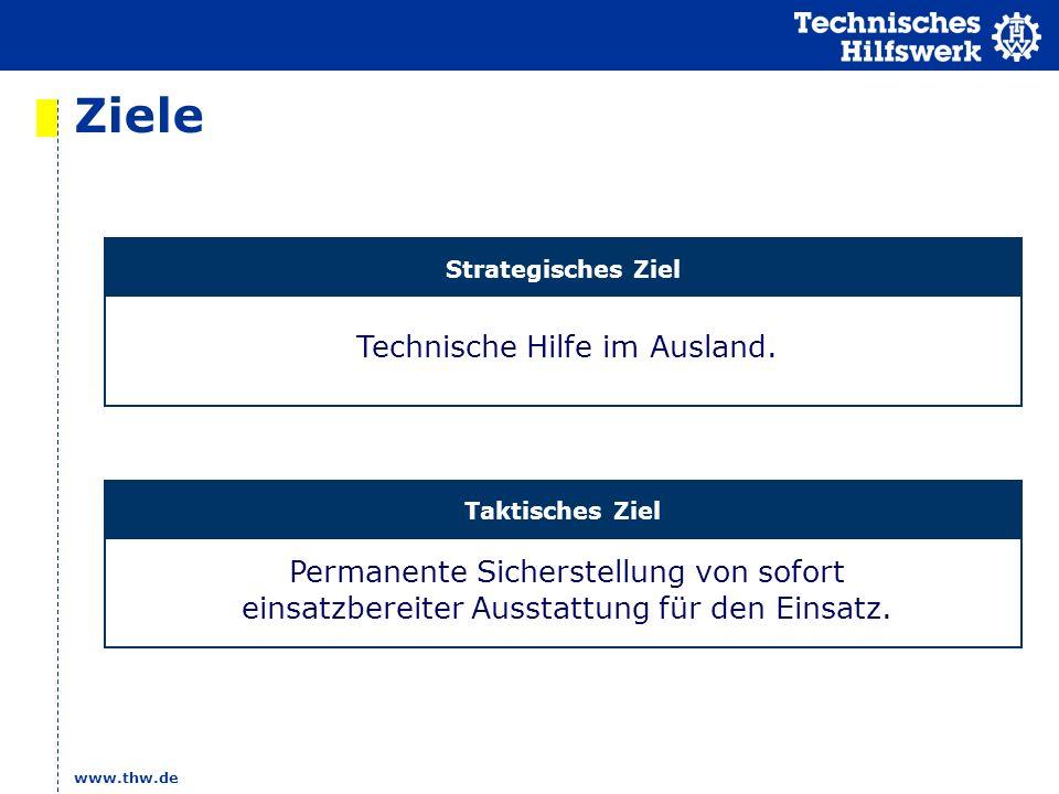 www.thw.de Ziele Technische Hilfe im Ausland.