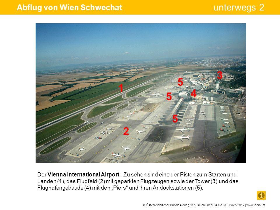 © Österreichischer Bundesverlag Schulbuch GmbH & Co KG, Wien 2012 | www.oebv.at unterwegs 2 Abflug von Wien Schwechat Der Vienna International Airport