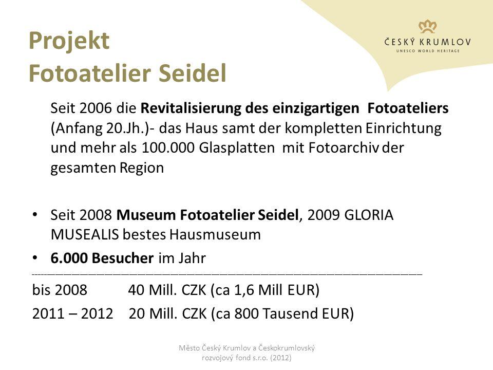 Projekt Fotoatelier Seidel Seit 2006 die Revitalisierung des einzigartigen Fotoateliers (Anfang 20.Jh.)- das Haus samt der kompletten Einrichtung und