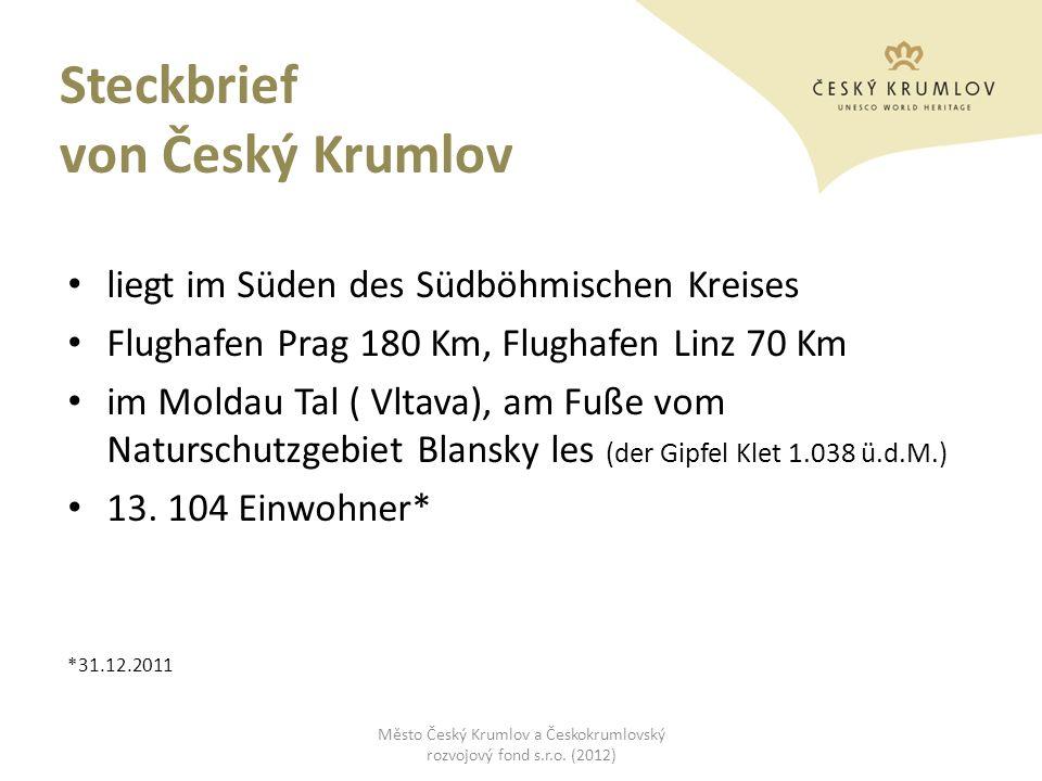 Steckbrief von Český Krumlov liegt im Süden des Südböhmischen Kreises Flughafen Prag 180 Km, Flughafen Linz 70 Km im Moldau Tal ( Vltava), am Fuße vom