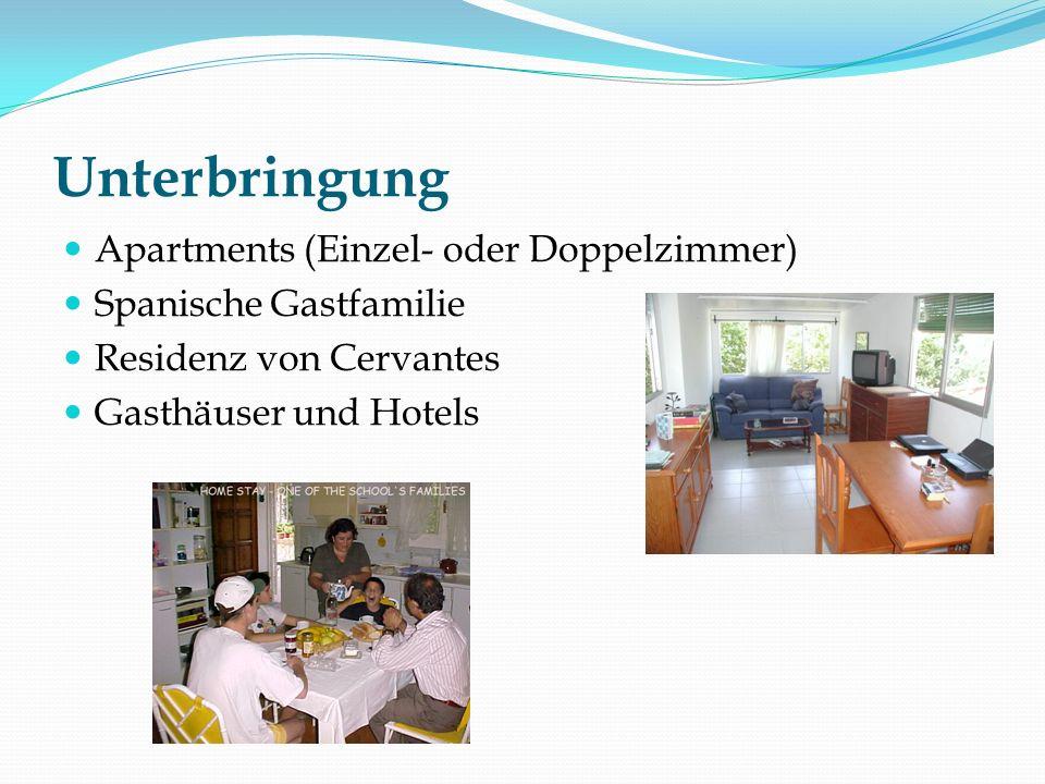Unterbringung Apartments (Einzel- oder Doppelzimmer) Spanische Gastfamilie Residenz von Cervantes Gasthäuser und Hotels