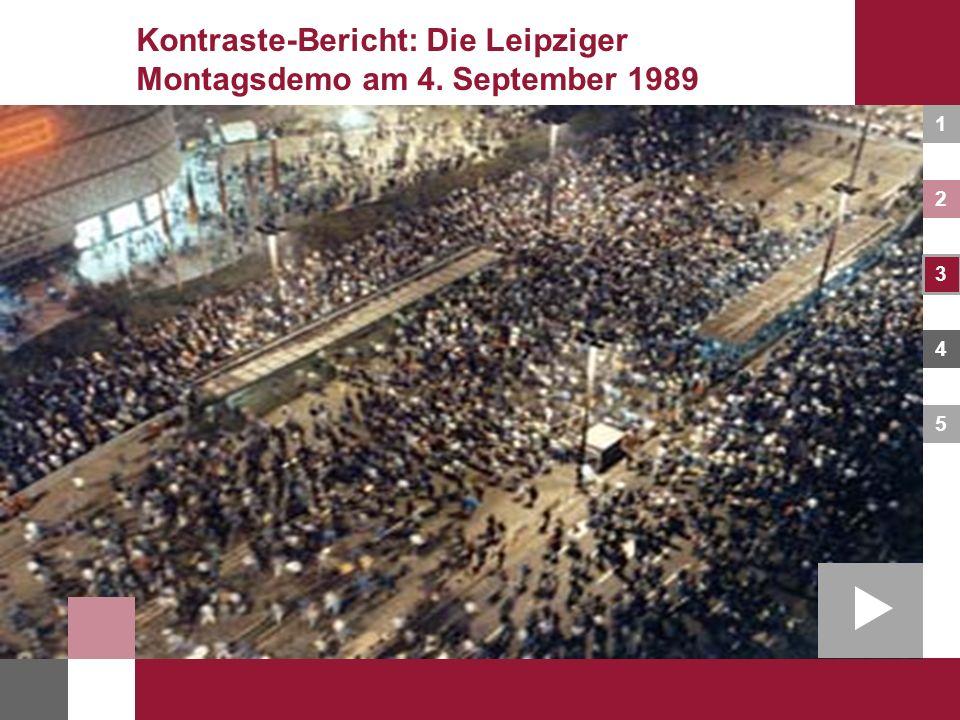1 2 3 4 5 Kontraste-Bericht: Die Leipziger Montagsdemo am 4. September 1989