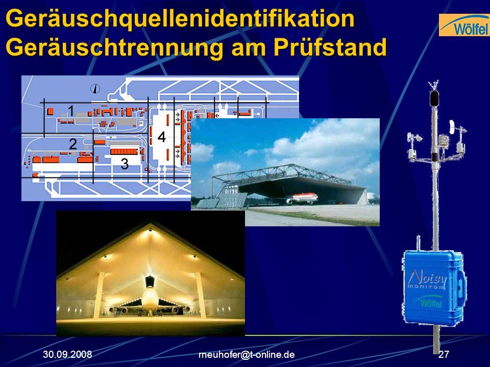 30.09.2008rneuhofer@t-online.de27Geräuschquellenidentifikation Geräuschtrennung am Prüfstand
