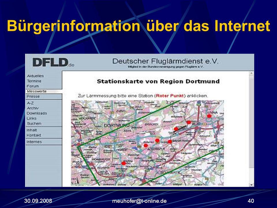 30.09.2008rneuhofer@t-online.de40 Bürgerinformation über das Internet