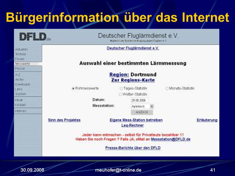 30.09.2008rneuhofer@t-online.de41 Bürgerinformation über das Internet