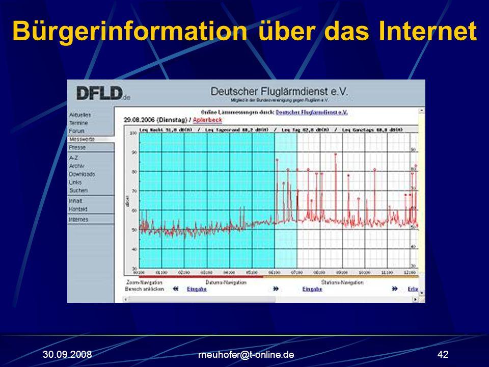 30.09.2008rneuhofer@t-online.de42 Bürgerinformation über das Internet