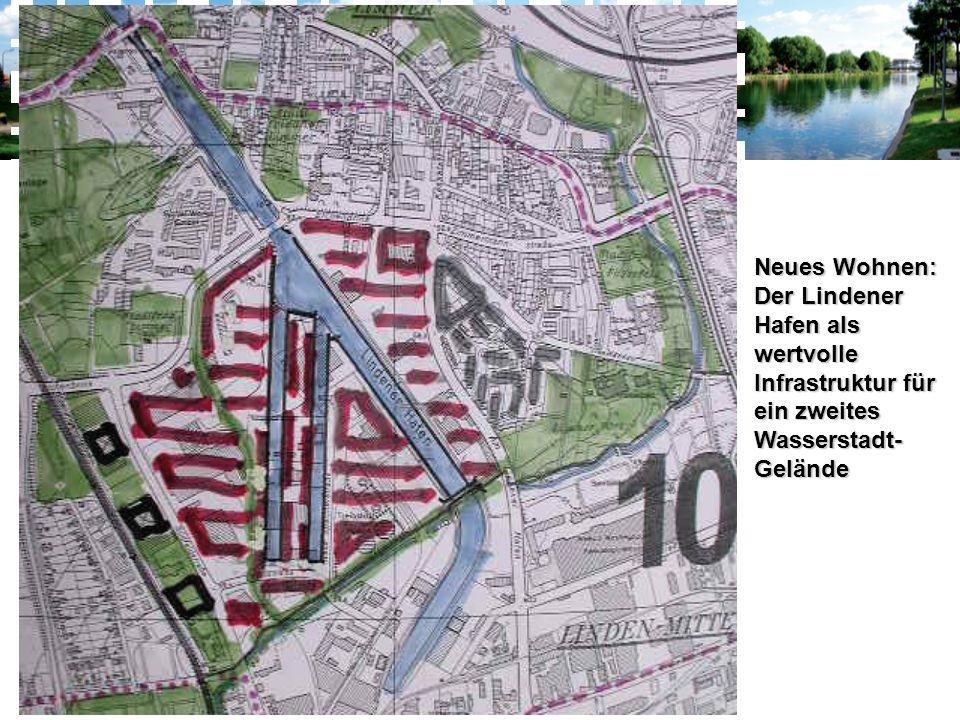 Neues Wohnen: Der Lindener Hafen als wertvolle Infrastruktur für ein zweites Wasserstadt- Gelände